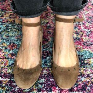 Madewell suede studded Mary Jane shoe size 7.5